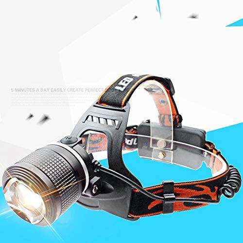 Scheinwerfer Tragbare LED-Scheinwerfer mit Zoom 18650 Batteriekopf-Taschenlampe für die Jagd- und Angelbeleuchtung im Freien