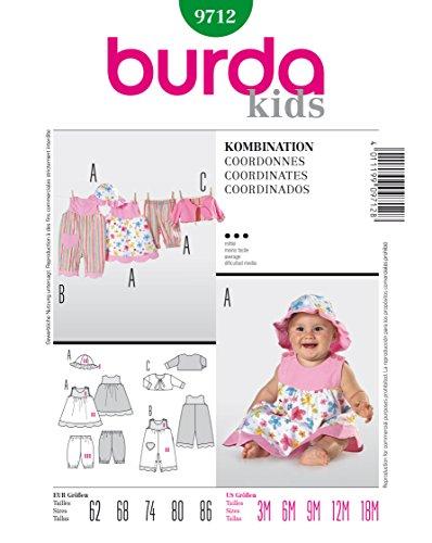 Burda Schnittmuster 9712 Baby-Kombi Gr. 62-86