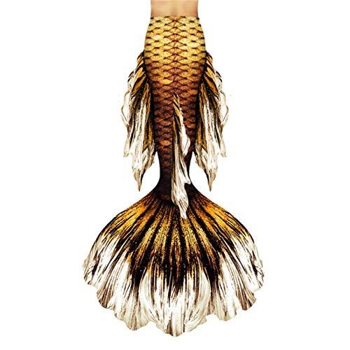 ABD, costume da bagno a coda di sirena, costume da bagno a forma di coda di sirena, da spiaggia, per feste in piscina, nuoto, cosplay (colore: Style-P, taglia: su misura)