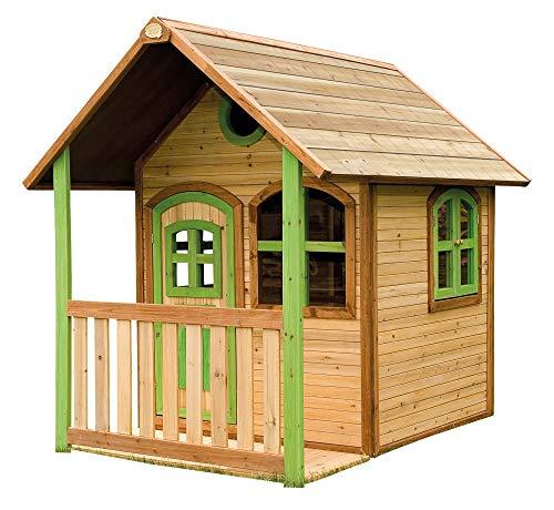 Beauty.Scouts Holzspielhaus mit Veranda Savige 137x191x178cm aus Zedernholz in braun Kinder Spielhaus Kinderspielhaus modern mit Tür und Fenster