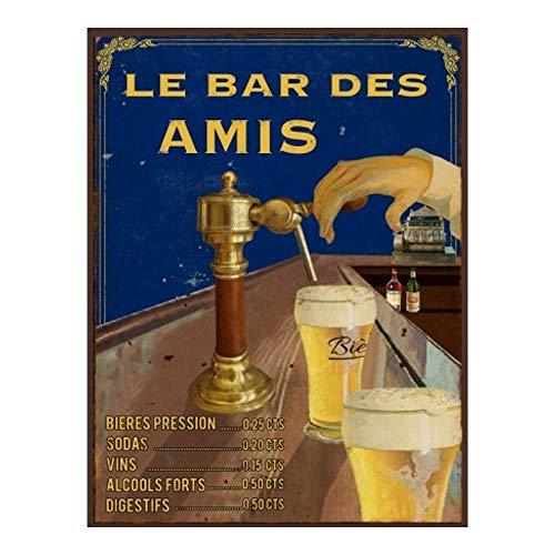 La Plaque Publicitaire Le Bar des Amis - Pompe à bières