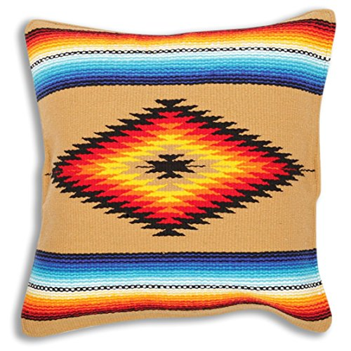 Amazing Deal El Paso Designs Serape Throw Pillow Cover, 18 X 18, Hand Woven in Southwest and Native ...