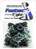 Pet Carrier Kennel Fasteners - 8pk Black Nylon Nuts, Metal Bolt Screws