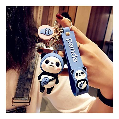 Decoración Panda Linda del Llavero del Llavero de China Partido Nacional del Tesoro Panda Favores temáticos Colgante for niños Juguetes Ornamento de Regalos Recuerdos Exquisito (Color : Blue)