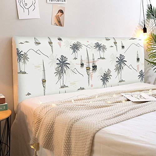 ZXDFG - Funda protectora para cabecero de cama, cubierta para mesita de noche, cubierta antipolvo, tela elástica de protección del respaldo, lavable, Color1, 180x65cm