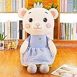 KXCAQ 30 cm-90 cm Lindo Dibujos Animados Princesa Oso Juguetes de Peluche Animales de Peluche Juguetes para niños niñas Regalo de cumpleaños Regalo de Juguete para bebé 70 cm Azul