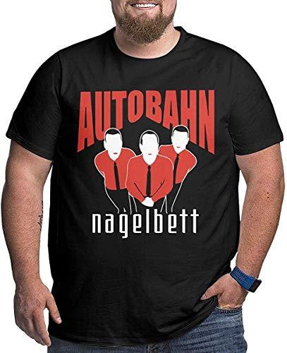 Miyagogo Men's Autobahn Nagelbett Plus Size Tees Particular Short Sleeve Black,Black,6XL