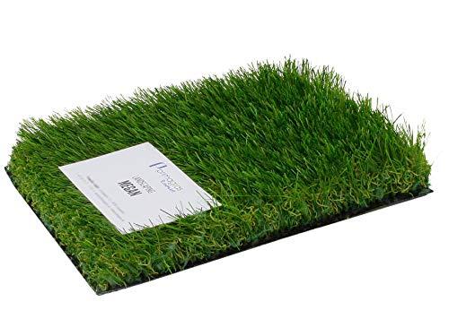 Gazon Artificiel MEGAN - Épais 38mm | Gazon Synthétique pour Jardin, Terrasse, Balcon | Perméable à l'eau et Stabilisé UV Échantillon