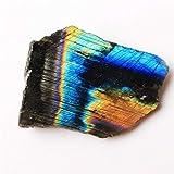 ABCBCA 1pc Natural Labradorita áspero Mineral Specimen decoración casera cristalina (Color : Labradorite Slice, Size : 60 80g)