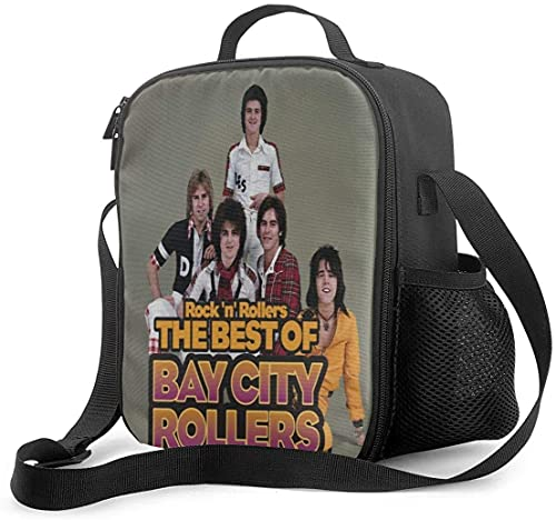 Hirola Bay City Rollers - Bolsa de almuerzo al aire libre para la escuela, picnic, organizador de contenedores para adultos y niños
