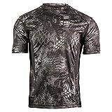 Kryptek Men's Standard Aura SS Shirt, Typhon/Black, XL