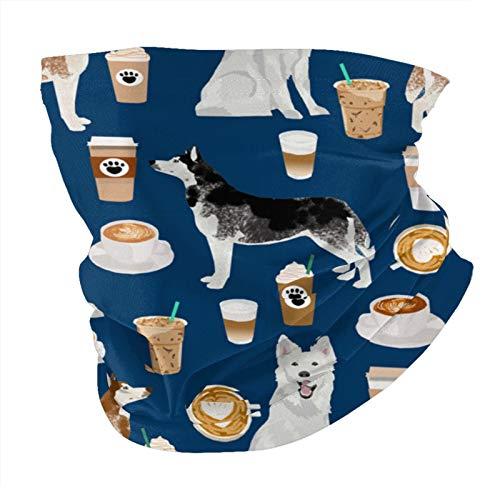 Xinflag@10 Huskies and White Shepherd Coffees - Pañuelo de cabeza de color azul marino, calentador de cuello, bandanas para hombres y mujeres