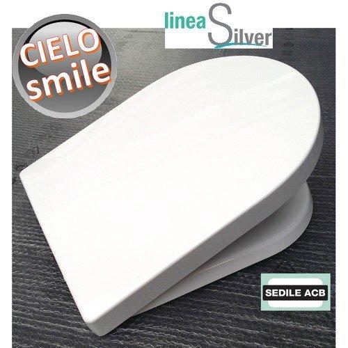 Sedile per wc SMILE Ceramica Cielo in termoindurente avvolgente - ACB Ercos