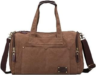 Duffel Bag,Canvas Shoulder Bag, Travel Bag, 17 Inches, Classic Black Optional, Waterproof, Portable, Large Capacity, Travel Essential (Color : Brown)