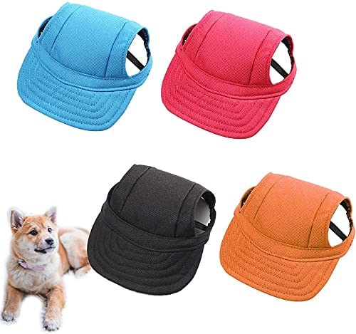 4 Pcs Dog Baseball Hat with Strap Adjustable Cute Limited price Super sale for Pet Hats