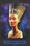 2020 Weekly Planner: Queen Nefertiti Egyptian Statue Bust: Portable Format