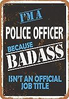 ヴィンテージレトロ錫メタルサインバッカス警察官壁装飾ホームバー装飾記号