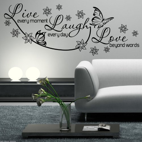 Wall Stencils Quotes Amazon Co Uk