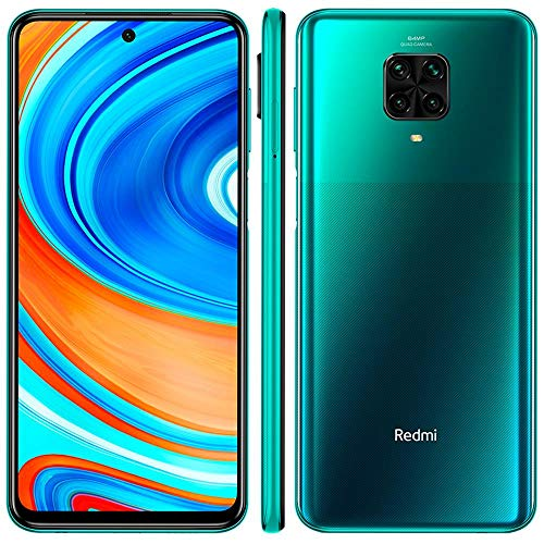 "Xiaomi Redmi Note 9 Pro 128GB + 6GB RAM, 6.67"" FHD+ DotDisplay, 64MP AI Quad Camera, Qualcomm Snapdragon 720G LTE Factory Unlocked Smartphone - International Version (Tropical Green)"