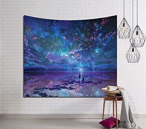 Galaxy Firste Tapestry Hippie Retro Home Decor Yoga-Strand-Matte 150x130cm / 150x100cm wandteppiche (Color : T1, Size : 150cmx130cm)