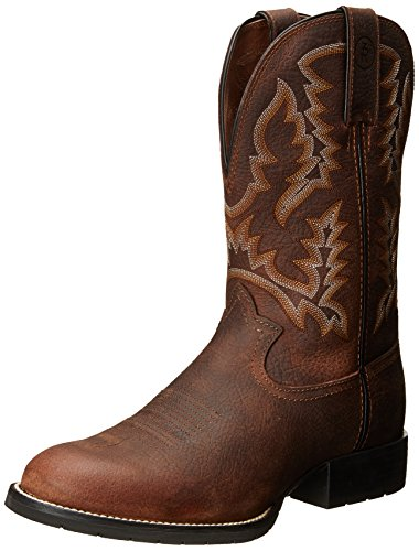 Tony Lama Men's 3R Pitstop Cowboy Boot Round Toe Brown...