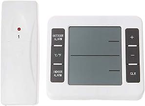 siwetg Termómetro De Refrigerador De Alarma Audible Digital Inalámbrico con Sensor De 1pc Pantalla Mínima/Máxima Termómetro De Interior Al Aire Libre