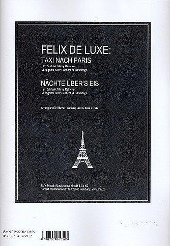 Taxi nach Paris und Nächte über's Eis : für Klavier/Gesang/Gitarre