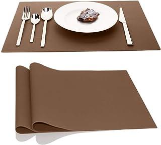 AINIMI - Juego de 2 manteles individuales de silicona grandes de 45 x 32 cm
