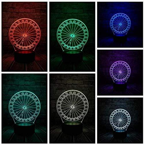 Nachtlicht für Kinder Neue innovative Gadget Riesenrad 3D LED USB-Lampe Optische Quelle Acryl Energie sparende Desktop Romantische Mädchen Geschenk Dekoration