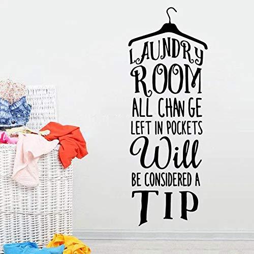 Etiqueta de la pared de vinilo lavadero percha oferta etiqueta de la pared chica denim vinilo etiqueta de la pared pared lavandería arte decoración