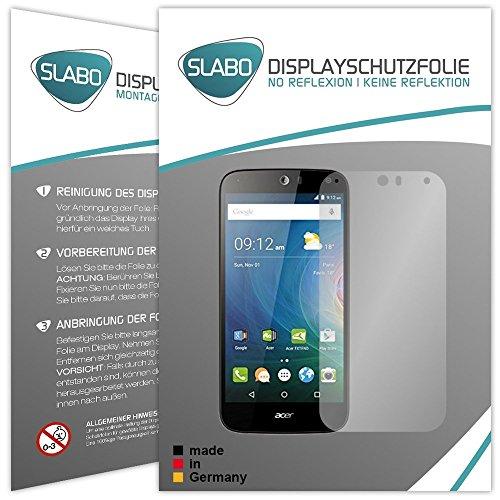 Slabo 2 x Bildschirmfolie für Acer Liquid Z630 / Z630S Dual-SIM Bildschirmschutzfolie Zubehör No Reflexion MATT