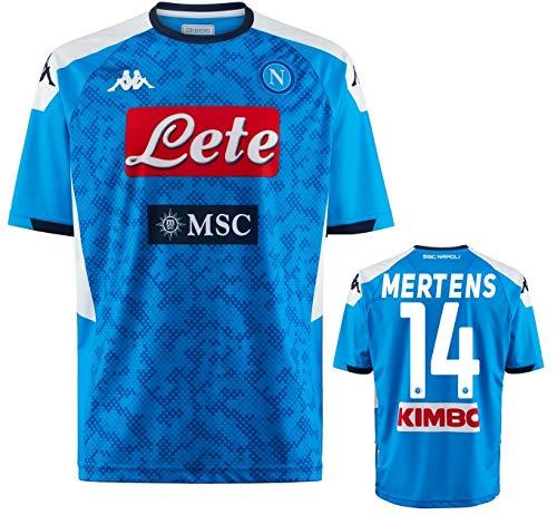 Kappa SSC Napoli Mertens Heimtrikot 2019-20 Original - Blau - Small (Brust 97 cm)
