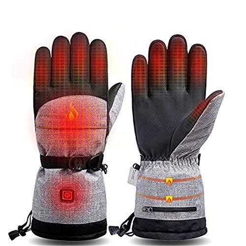 WeiX Gants Chauffants,Gants de Cyclisme,3 Modes de Chauffage, Gants Chauds d'hiver Imperméables à écran Tactile,pour Moto Cyclisme Pêche Chasse Ski Randonnée Hommes Femmes