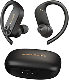 HAPPYAUDIO S1 Auricular Bluetooth 5.0 TWS Auriculares inalambricos Deportes con Ganchos para los oídos Micrófono Incorpora...