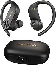 HAPPYAUDIO S1 Earbud TWS Headphones Bluetooth 5.0 Wireless Headset Sports w/Ear Hooks Built-in Mic Volume Control, IPX7 Wa...