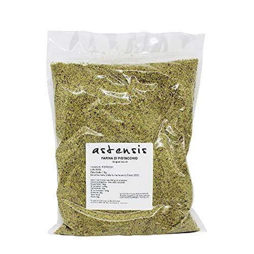 ASTENSIS Farina Pistacchio - 1000gr - Pistacchio - Sottovuoto 1 Kg - Preparazione Ricette Dolci e Salate