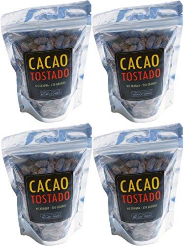 Momotombo - Fèves de cacao torréfiées non pelées- Cacao Nicaragua 100% - 4x250gr