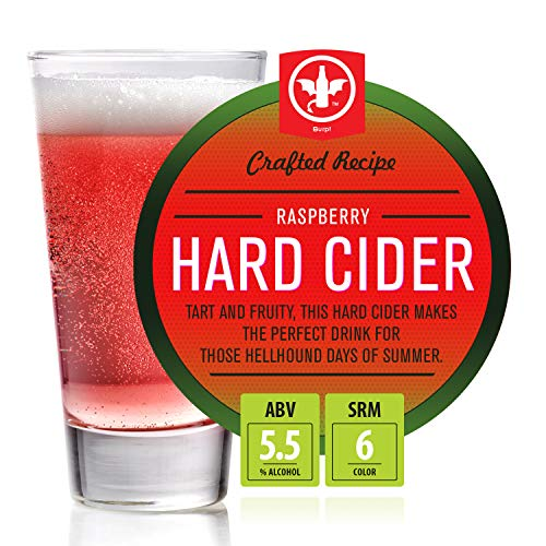 BrewDemon 2 Gal. Raspberry Hard Cider Recipe Kit - Makes a Wicked-Good 5.5% ABV Batch of Craft Brewed Hard Cider