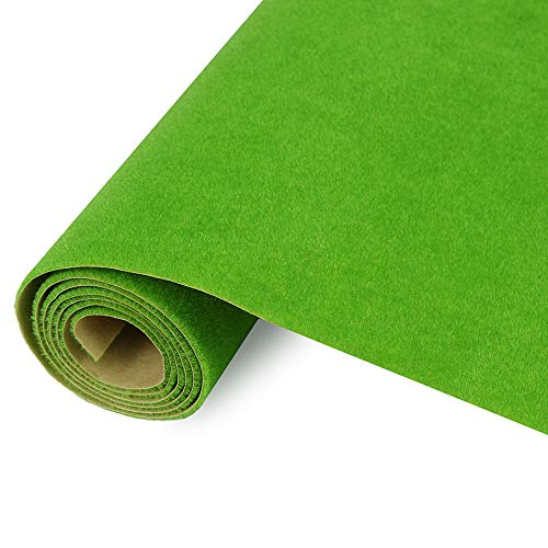 CP102 Artificial Model Grass Mat Trains Light Green 40x100cm or 15.7'' x 39'' for Decoration Kids Craft Scenery Model DIY