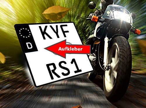 Motorrad Nummernschild Kennzeichen Aufkleber EU Feld in schwarz überkleben - Im Moment der Trend in der Tuning Szene