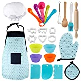 Vanmor Kids Basic Cooking and Baking Set, 26 Pcs Kids Chef Role Play for Little Boys and G...