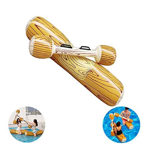 Pool Hout Floating Rij, Opblaasbare Hangmat Creatieve Multifunctionele Hout Drijvend Water Speelgoed Hout Rij Opblaasbare Zwevend Bed