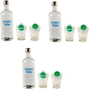 3X Mini  Bottles Drink Dollhouse Home Pub Bar Decor Gift S/&K