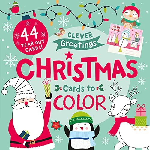 Christmas Cards to Color: 44 Tear Out Cards! (Clever Greetings)