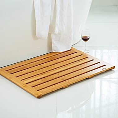 Mosa Natural Bamboo Bath Mat (28  X 20 ), Wood Bathroom Accessories Eco-Friendly Wooden Shower Mat Bathtub Accessories