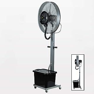 Jyfsa 3 configuraciones de Velocidad Ventilador de fábrica Ventilador Ventilador Ventilador de Niebla vibratoria Grande al Aire Libre con Tanque de Agua Rociador Vertical Interior