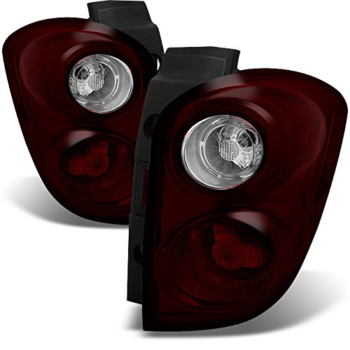 For Chevy Equinox SUV Dark Red Tail Lights Repalcement Driver Left + Passenger Right Side Pair Set