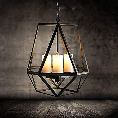 MUZIDP Retro colgante luz edison industrial 3 luces diseño comedor mesa colgante lámpara candelabro jaula colgando lámpara ajustable altura comedor cocina vintage decorativo araña lámpara de techo luz
