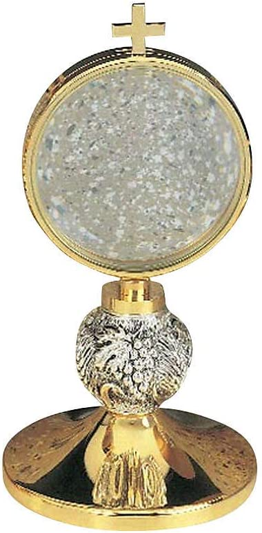 Holyart Chapel Monstrance with chiseled cm Max 82% OFF diam It is very popular Grapes 8.5