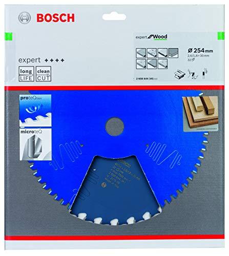 Bosch Professional 2608644341 Kreissägeblatt Expert for Wood (für Holz, 254 x 30 x 2,6 mm, Zähne 32, Zubehör Kreissäge)